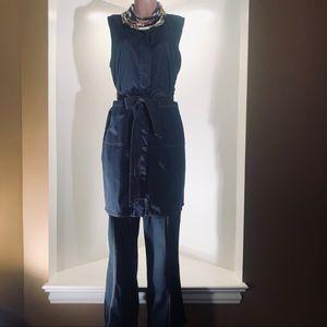 Chico's Black Label Denim Vest Size 2